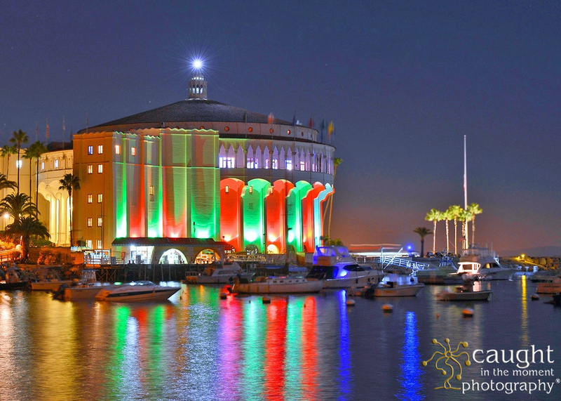 Catalina Island Casino Lit for the Holidays