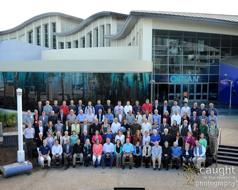 large group portrait photo at conference or convention