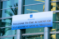 001 Academy of Management 2016 in Anaheim-Signage